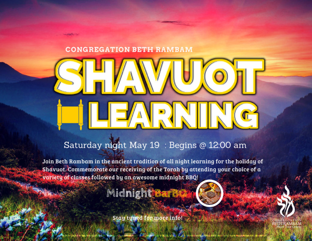 Shavuot – All Night Learning