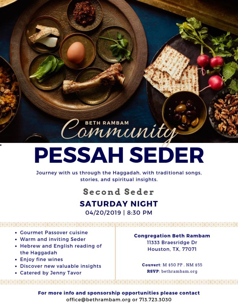 Pesach Seder – Beth Rambam