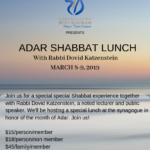 ADAR SHABBATON LUNCH