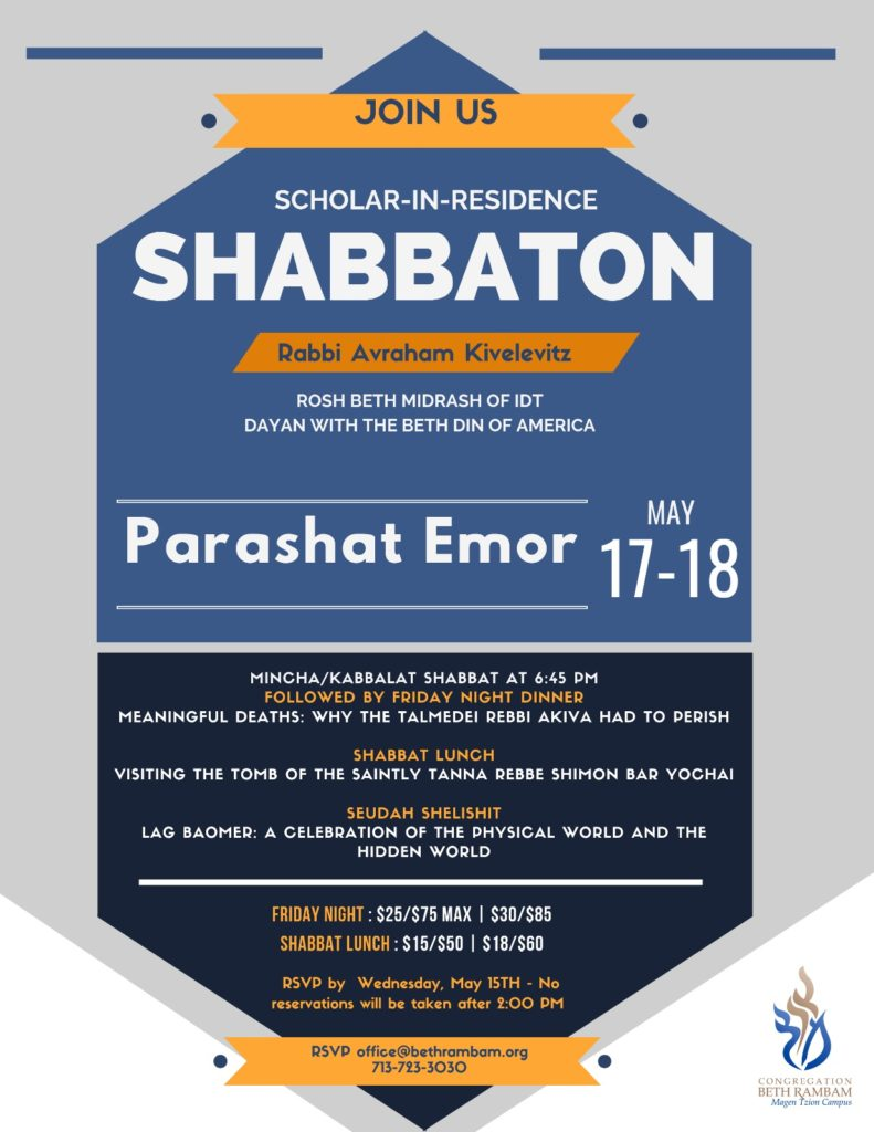 Scholar In Residence Shabbaton