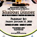 CBR Hebrew School Shabbat Dinner